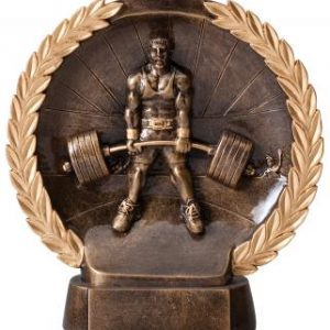 MPI RFH547 Super 3D Male Dead Lift Weightlifting Resin Award