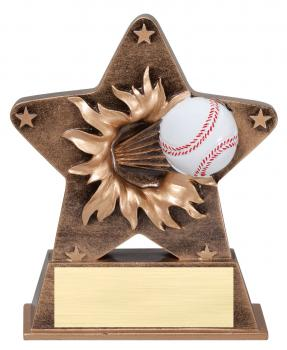 Star Burst Baseball Resin Award
