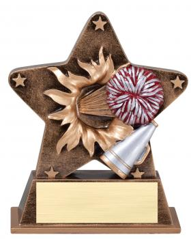 Star Burst Cheerleading Resin Award