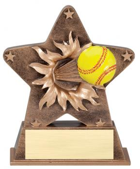 Star Burst Softball Resin Award