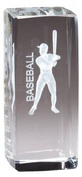CRY1210 Collegiate Series Sports Crystal Baseball