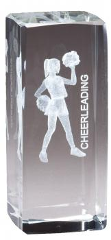 CRY1292 Collegiate Series Sports Crystal Cheerleading