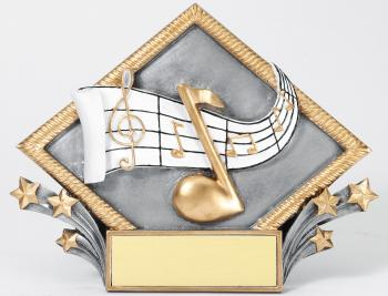 MPI Color Diamond Music Plate Award