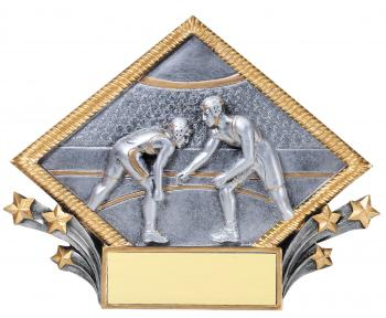 MPI Color Diamond Wrestling Plate Award