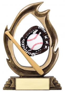 Flame Series Baseball Resin Award