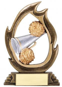Flame Series Cheerleading Resin Award