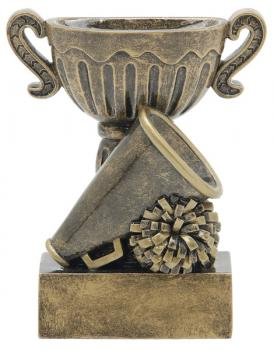 53306GS Sport Cup Cheer Resin Trophy