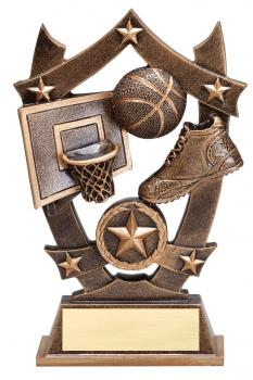 MPI Sports Star Basketball Resin Award