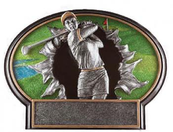 Liberty Burst Thru 3D Resin Female Golf Plate Award