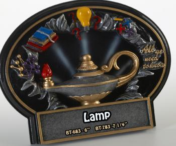 Liberty Burst Thru 3D Lamp of Learning/Education Plate Resin Award