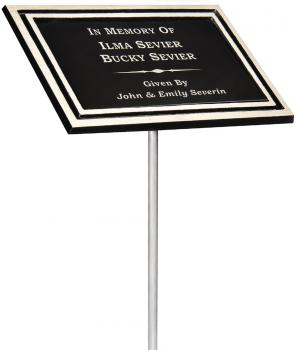CAP68SM Stake Mount Cast Aluminum Plaque Medium