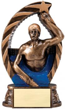 RST616 Running Star Resin Male Swimming Medium Award