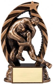 RST634 Running Star Resin Wrestling Medium Award