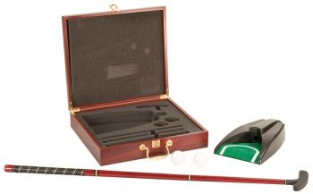 JDS GFL01 Rosewood Finish Executive Golf Set shown open