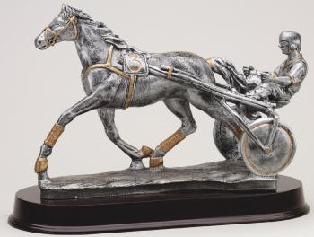 MPI RF2473SG Large Sulke Harness Racing Horse Resin Award