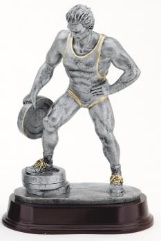 MPI RX472SG Bar in Hand Male Weightlifter Resin Award
