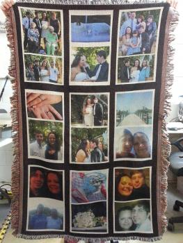 Full color photo throw blanket keepsake to last a lifetime