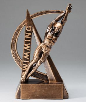 RF2726 Ultra Action Male Swimming Resin Award