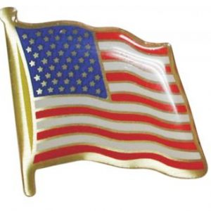 USA1 American Flag Chenille Pin