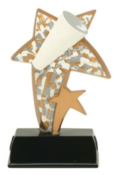 PDU 91506GS Super Star Cheerleading Resin Award