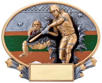 MX2002 Softball Xplosion Oval Resin Award