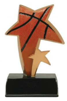 PDU 91505GS Super Star Basketball Resin Award