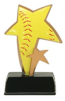 PDU 91520GS Super Star Softball Resin Award