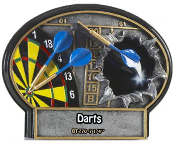 Liberty Burst Thru 3D Resin Darts Award