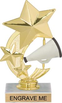 JDS RP89605 Shooting Star Spinning Cheerleading Trophy