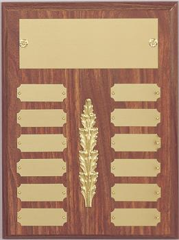 9x12 Multi Plate Plaque with center design