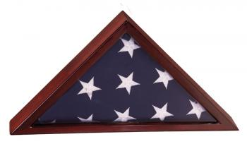 PFC14 Rosewood Piano Finish Flag Display Case