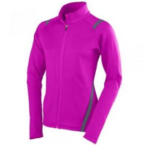 Power Pink with graphite gray trim breast cancer awareness jacket
