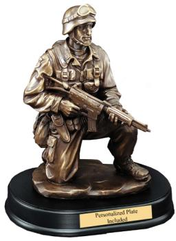 Military Pride Award Kneeling
