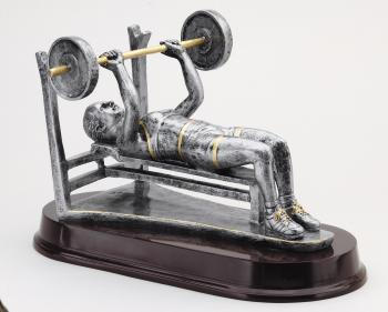 MPI RX466SG Female Bench Press Weightlifter Resin Award