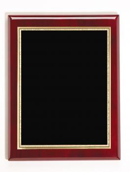 MPI RW440 Rosewood Piano Finish Plaque with black plate