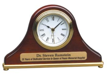 T004 Rosewood Finish Mantle Desk Clock