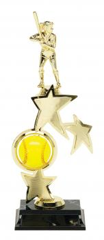 PDU 93520 Spinning Softball Star Riser Trophy