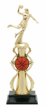 PDU 96505 Male Basketball Star Action Riser Trophy