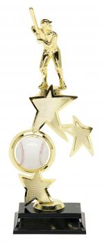 PDU 93503 Spinning Baseball Star Riser Trophy