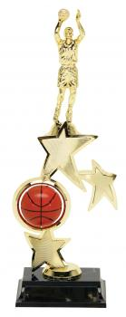 PDU 93505 Spinning Male Basketball Star Riser Trophy