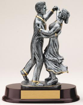 MPI RF3461SG Ballroom Dancing Couple Resin Award