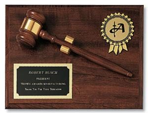 9x12 Gavel Plaque