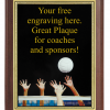 6X8 PLAQUE WITH CUSTOM SPORT PLATE VOLLEYBALL