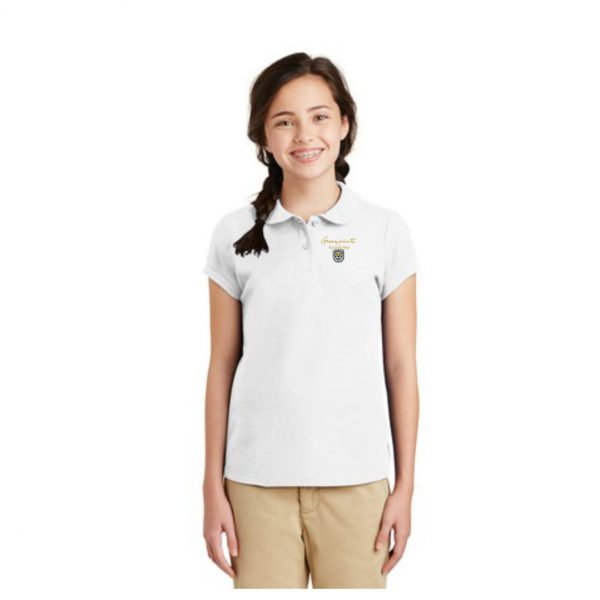 YG503 WHITE POLO WITH MODEL GPA