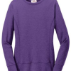 anvil 72000L crewneck ladies sweartshirt heather purple