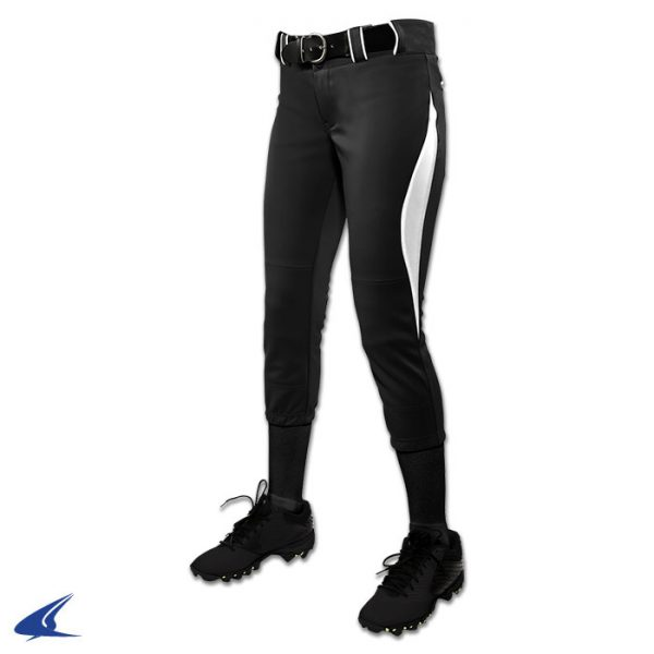 bp28 surge black with white trim surge softball pants