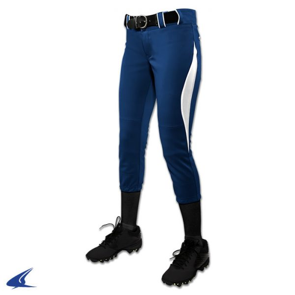 bp28 surge navy with white trim surge softball pants