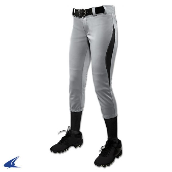 bp28 surge silver gray pant with black trim surge softball pants
