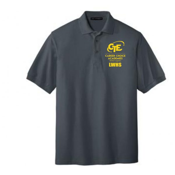 LWHSK500 STEEL GRAY POLO GOLD EMBROIDERY